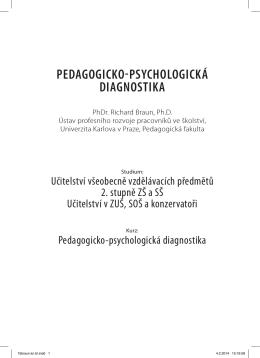 3.7 Pedagogicko-psychologická diagnostika