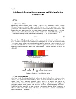 Lokalizace infrazáření termokamerou a zjištění součinitele prostupu