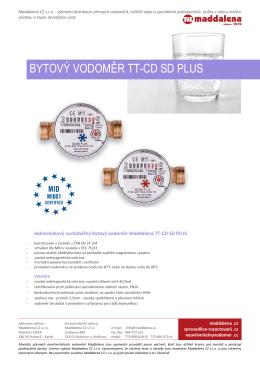 BYTOVÝ VODOMĚR TT-CD SD PLUS
