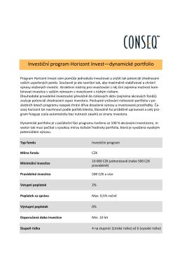 Investiční program Horizont Invest—dynamické