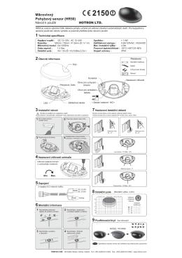Mikrovlnný Pohybový senzor (HR50)