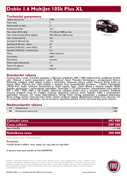 Doblo 1.6 MultiJet 105k Plus XL