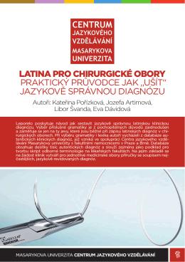 latina pro chirurgické obory praktický průvodce jak
