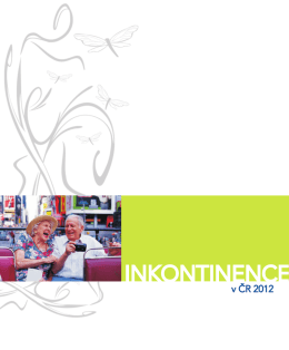 """publikace """"Inkontinence v ČR 2012"""""""