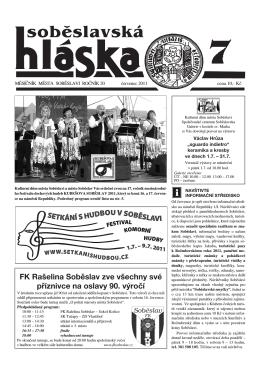 červenec 2011 - Město Soběslav
