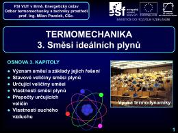 Směsi ideálních plynů - Odbor termomechaniky a techniky prostředí
