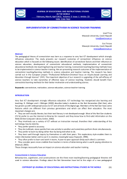 implementation of connectivism in science teacher training