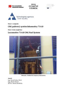 CNG palivový systém lokomotivy 714.8