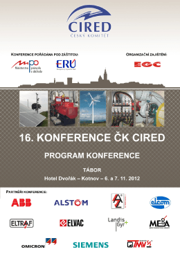Program ČK CIRED 2012