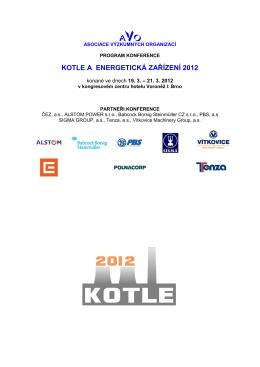 kotle a energetická zařízení 2012 - Kotle a energetická zařízení 2015