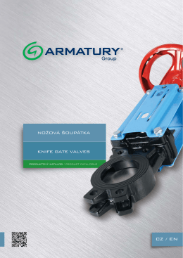 Nožová šoupátka - ARMATURY Group a.s.