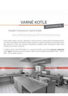 VARNÉ KOTLE - Gastroform, s.r.o.