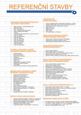 Stáhněte si list referenčních staveb (.PDF)