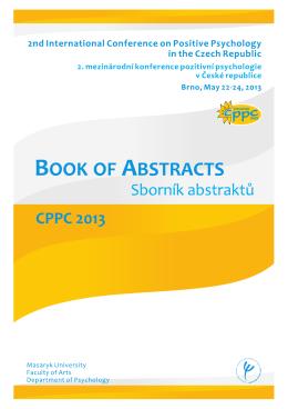 Sborník abstraktů CPPC 2013 ke stažení zde.