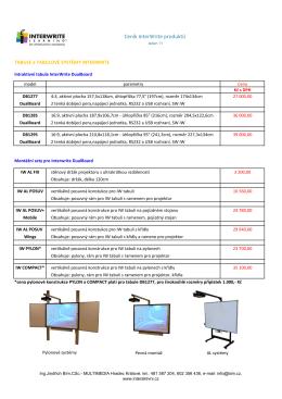 Ceník InterWrite produktů