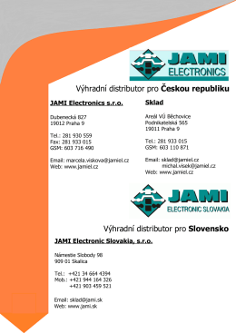 CONTACTS R OUND THE WORLD - JAMI Electronic Slovakia, sro