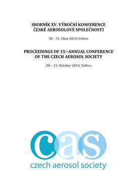 ČAS 2014 - Czech Aerosol Society