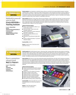 Řízení a automatizace tiskových služeb MyQ 5.1