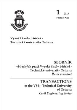 1 - FaSt VŠB - Vysoká škola báňská