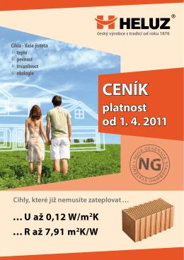 Ceník platný od 1.4.2011