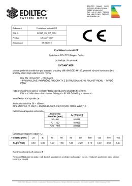 Prohlášení o shodě CE Společnost EDILTEC Bayern