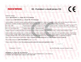 ES - Prohlášení o shodě (strana 1/3)