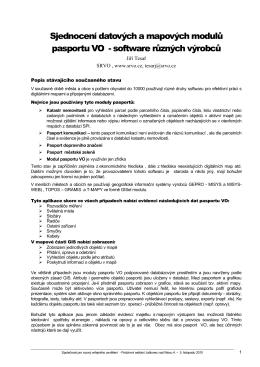 Sjednocení datových a mapových modulů pasportu VO