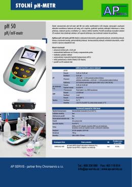 stolní pH metr a konduktometr za velmi dobou cenu - AP