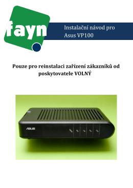 Instalační návod pro Asus VP100