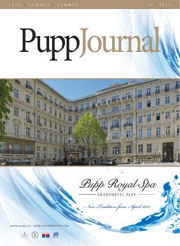 Pupp Journal Sommer 2013