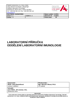 Laboratorni_prirucka_OLI .pdf - Fakultní nemocnice u svaté Anny v