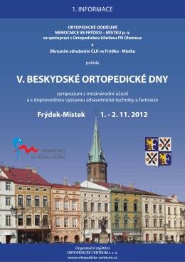 V. beskydské ortopedické dny 1. informace.indd