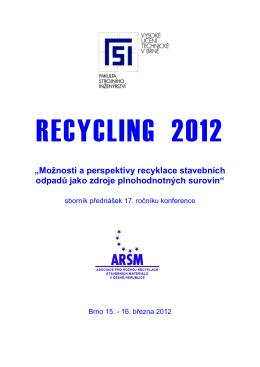 Sborník konference RECYCLING 2012