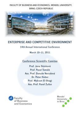 ENTERPRISE AND COMPETITIVE ENVIRONMENT