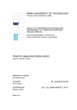 brno university of technology traffic analysis from video