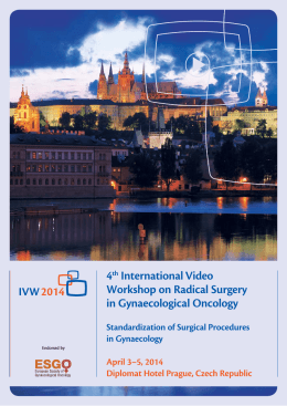 4th International Video Workshop on Radical Surgery in