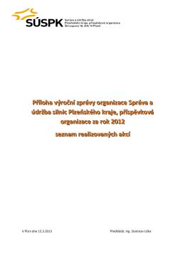 Příloha výroční zprávy organizace za rok 2012 ke stažení zde