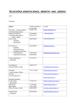 Kontakty - členové výboru a cvičitelé 2015 (PDF)