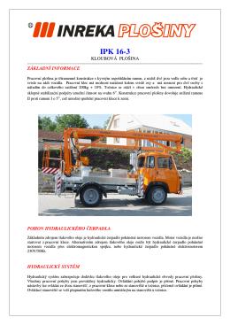 IPK 16-3 - Inreka plošiny