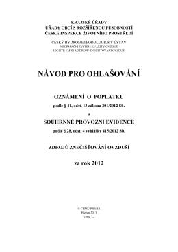 Návod - Český hydrometeorologický ústav