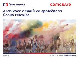 Archivace emailů ve společnosti Česká televize