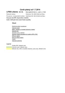 LITES Liberec s.r.o. Ceník platný od 1.7.2014