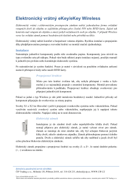 Elektronický vrátný eKey/eKey Wireless - zabezpečovací