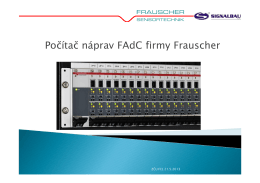 Počítač náprav FAdC firmy Frauscher