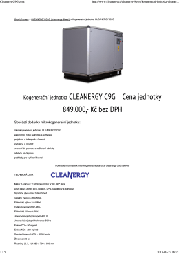 Cleanergy C9G cena