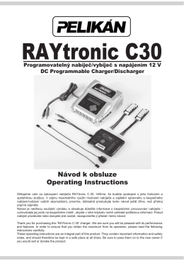 Raytronic C30 manual