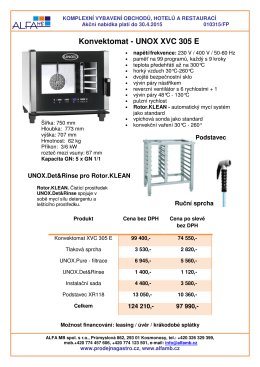 Unox 505 E s doplňky