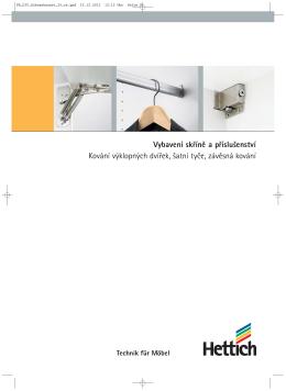 Katalog Vybavení skříně a příslušenství, Kování výklopných