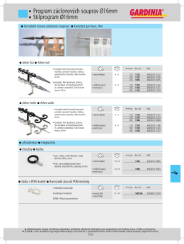 Katalog kovových styl.garnyží - průměr 16mm