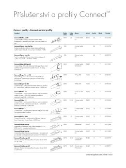 Connect profily - výrobky ke stažení (pdf).